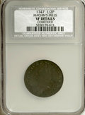 Colonials, 1747 1/2P Machin's Mills Halfpenny--Corroded--NCS, VF Details,...(Total: 2 coins)