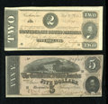 Confederate Notes:Group Lots, Two Confederate Notes.. ...