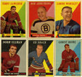 Hockey Cards:Sets, 1958-59 Topps Hockey Partial Set. The offered 1958-59 Topps Hockey set is missing four cards, #'s 40,42, 52, and 66. Featur...