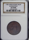 Colonials, 1785 COPPER Connecticut Copper, African Head VF35 NGC....