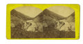 Photography:Stereo Cards, Stereoview View of Strawberry Ford (Utah, Territory) by A. J. Russell ca 1860s-1870s - ...