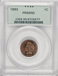Proof Indian Cents, 1893 1C PR65 Red PCGS....