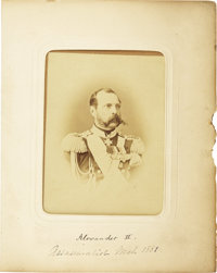 Russian Tsar Alexander II and Family Cabinet Card Collection