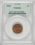 Proof Indian Cents, 1894 1C PR66 Red PCGS....