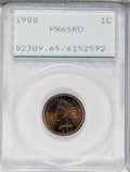 Proof Indian Cents, 1900 1C PR65 Red PCGS....