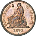 Patterns, 1870 10C Ten Cents, Judd-833, Pollock-923, High R.6, PR64 Red and Brown PCGS....