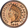 Patterns, 1864 1C One Cent, Judd-356A, Pollock-427, R.6-7, PR66 Red and BrownNGC....
