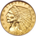 Proof Indian Quarter Eagles, 1910 $2 1/2 PR63 NGC....