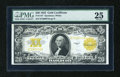 Large Size:Gold Certificates, Fr. 1187 $20 1922 Gold Certificate PMG Very Fine 25....