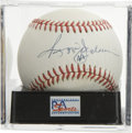 Autographs:Baseballs, Reggie Jackson Single Signed Baseball, PSA NM-MT 8. Mr. October hashere penned an elegant sweet spot autograph. Ball has be...