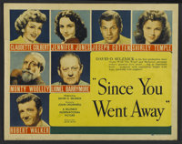 "Since You Went Away (United Artists, 1944). Half Sheet (22"" X 28""). Drama"