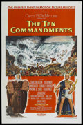 "Movie Posters:Historical Drama, The Ten Commandments (Paramount, 1956). One Sheet (27"" X 41""). Historical Drama...."