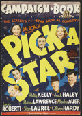 "Movie Posters:Musical, Pick a Star (MGM, 1937). Pressbook (14"" X 20"") (Multiple Pages) and Attached Herald (6"" X 7""). Musical...."