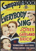 "Movie Posters:Musical, Everybody Sing (MGM, 1938). Pressbook (14"" X 19.75""). Musical...."