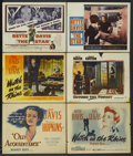 "Movie Posters:Drama, Old Acquaintance Lot (Warner Brothers, 1943). Title Lobby Cards (3) and Lobby Cards (3) (11"" X 14""). Drama.... (Total: 6 Items)"