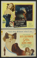 """Movie Posters:Film Noir, Gilda Lot (Columbia, 1946). Title Lobby Card and Lobby Card (11"""" X 14""""). Film Noir.... (Total: 2 Items)"""