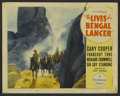 "Movie Posters:Adventure, The Lives of a Bengal Lancer (Paramount, 1935). Lobby Card (11"" X14""). Adventure...."