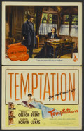"""Movie Posters:Thriller, Temptation Lot (Universal, 1946). Title Lobby Card and Lobby Card (11"""" X 14""""). Thriller.... (Total: 2 Items)"""