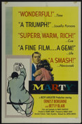"Movie Posters:Academy Award Winner, Marty (United Artists, 1955). One Sheet (27"" X 41""). Academy AwardWinner...."