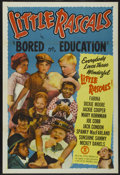 "Movie Posters:Comedy, Little Rascals Stock Poster (Monogram, R-1950). One Sheet (27"" X 41""). Comedy. Bored on Education...."