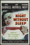 "Movie Posters:Mystery, Night Without Sleep (20th Century Fox, 1952). One Sheet (27"" X41""). Mystery...."