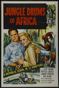 "Movie Posters:Serial, Jungle Drums of Africa (Republic, 1952). One Sheet (27"" X 41""). Serial...."