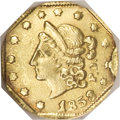 California Fractional Gold, 1853 50C Peacock Reverse 50 Cents, BG-302, Low R.4, MS65 NGC....
