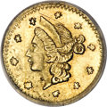 California Fractional Gold, 1853 25C Liberty Round 25 Cents, BG-208, R.7, MS61 PCGS....