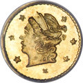 California Fractional Gold, 1871 25C Liberty Round 25 Cents, BG-812, Low R.5, MS67 PCGS....