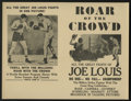 "Movie Posters:Sports, Roar of the Crowd (Norman, 1953). Herald (9"" X 12""). Sports...."