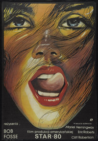 "Star 80 (Warner Brothers, 1983). Polish One Sheet (26.5"" X 38.5""). Drama"