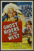 "Movie Posters:Serial, Ghost Riders of the West (Republic, 1954). One Sheet (27"" X 41""). Serial...."