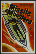 "Movie Posters:Science Fiction, Missile Monsters (Republic, 1958). One Sheet (27"" X 41"")Tri-Folded. Science Fiction...."