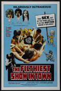"""Movie Posters:Adult, The Filthiest Show in Town (William Mishkin Motion Pictures Inc., 1973). One Sheet (27"""" X 41"""") Tri-Folded. Adult...."""