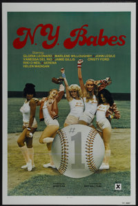 "N.Y. Babes (Big Apple Films, 1979). One Sheet (27"" X 41"") Tri-Folded. Adult"
