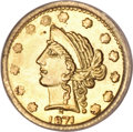 California Fractional Gold, 1871 25C Liberty Round 25 Cents, BG-864, R.5, MS65 PCGS....