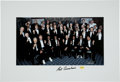 Autographs:Photos, Red Auerbach Signed Oversized Boston Celtics Greats Photograph.Unique group photograph created at a birthday celebration fo...