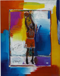 Basketball Collectibles:Others, Michael Jordan Peter Max Signed Lithograph. Limited edition(257/423) lithograph proves that Leroy Neiman isn't the only sk...