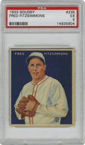 Baseball Cards:Singles (1930-1939), 1933 Goudey Fred Fitzsimmons #235 PSA EX 5. Thanks to the solidblue field composing the image area and the clean edges, th...