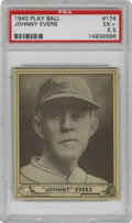 Baseball Cards:Singles (1940-1949), 1940 Play Ball Johnny Evers #174 EX+ PSA EX+ 5.5. Hall of Fame starof the Chicago Cubs Johnny Evers is presented here for ...