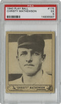 Baseball Cards:Singles (1940-1949), 1940 Play Ball Christy Mathewson #175 PSA EX 5. One of the fiveoriginal Hall of Fame inductees, the masterful Christy Math...