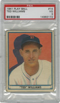 Baseball Cards:Singles (1940-1949), 1941 Play Ball Ted Williams #14 PSA VG 3. Widely regarded among TedWilliams enthusiasts as his finest cardboard example, t...