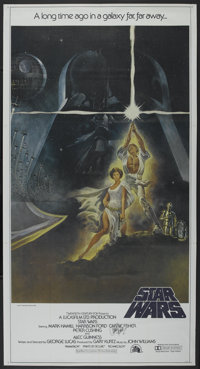 "Star Wars (20th Century Fox, 1977). International Three Sheet (41"" X 77"") Autographed. Science Fiction"