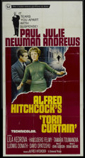 "Movie Posters:Hitchcock, Torn Curtain (Universal, 1966). Three Sheet (41"" X 81"").Hitchcock...."
