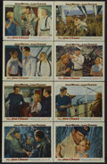 "Movie Posters:War, The Sea Chase (Warner Brothers, 1955). Lobby Card Set of 8 (11"" X 14""). War.... (Total: 8 Items)"
