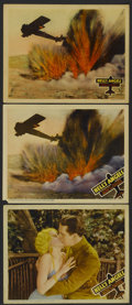 """Movie Posters:War, Hell's Angels (United Artists, 1930 and R-1937). Lobby Cards (3)(11"""" X 14""""). War.... (Total: 3 Items)"""