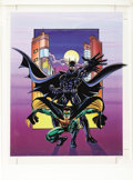 Original Comic Art:Miscellaneous, Batman and Robin Poster Blueline Color Guide Production Art(undated)....