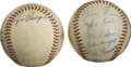 Autographs:Baseballs, 1970's Tulsa Oilers Team Signed Baseballs Lot of 2. During the1970's, the Tulsa Oilers were a AAA affiliate for the St. Lo...