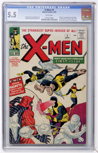 X-Men #1 (Marvel, 1963) CGC FN- 5.5 White pages
