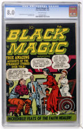 Golden Age (1938-1955):Horror, Black Magic #9 (Prize, 1952) CGC VF 8.0 Off-white pages....